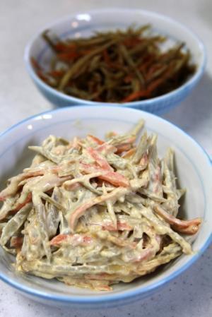 11.02.17ごぼうサラダ&キンピラ