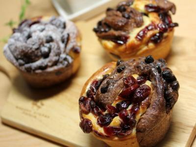 11.02.23クランベリーとチョコの渦巻きパン