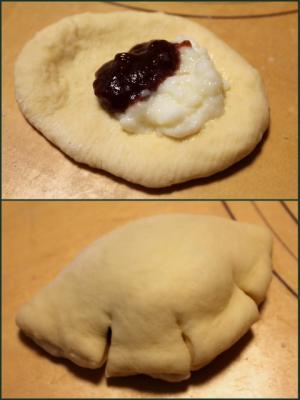 11.07.30いちごみるくパン_成形