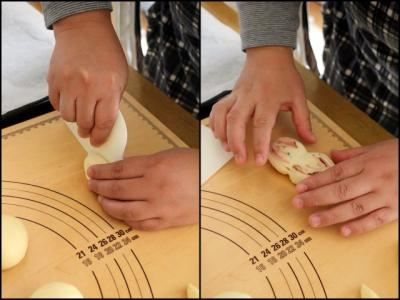 11.11.08プチパン教室_ハムロール成形