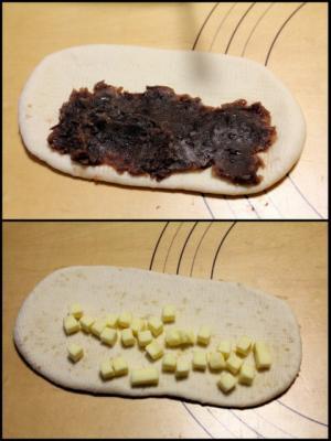 11.11.18ベーグル_成形あんこ&チーズ