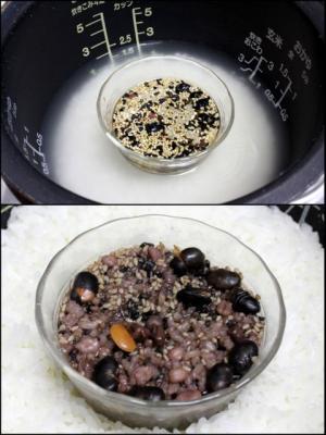 11.12.02小豆と15穀の食パン_15穀を炊く
