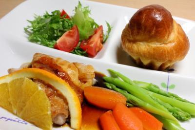 12.01.10晩ご飯_鶏肉のオレンジソース