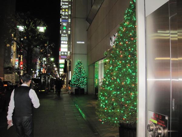 銀座通りのツリー1