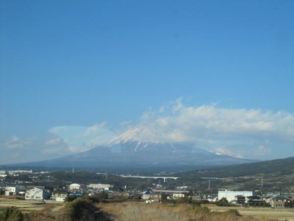 元旦の車窓からの富士山