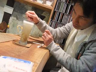 ステキなカフェの手作りジンジャーエール
