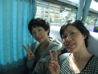 観光バスの中②