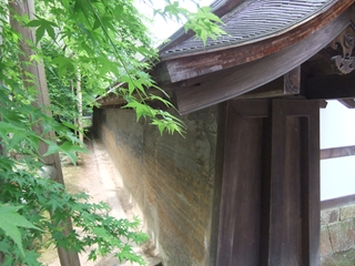 龍安寺の石庭の壁