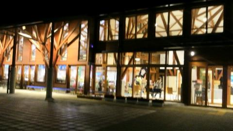 坂下湯川の道の駅の夜景