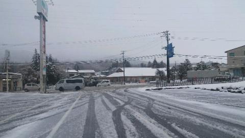 11月14日朝7時半雪が積もった