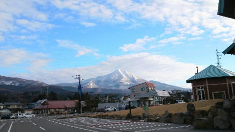 11月17日雪の磐梯山