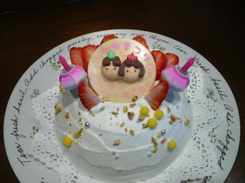 お雛祭りケーキ