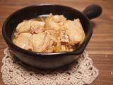 柚子胡椒風味の鶏の酒蒸し