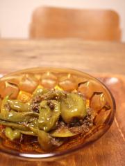 ちりめん山椒と生姜シロップを作った時の残りで味付け