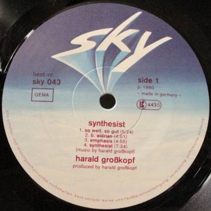 harald grosskopf synthesist rar Harald grosskopf & eberhard kranemann his solo works synthesist and oceanheart are outstanding releases of the bureau b are reissuing his final.