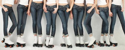 少女時代のジーンズにつつまれた脚