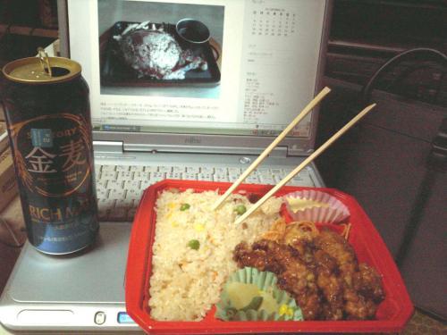 焼きめし&チキン南蛮弁当 with 金麦