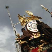 高山祭りの屋台お神楽
