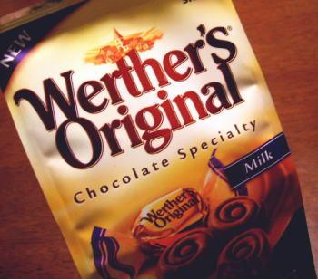 ヴェルタースオリジナル「キャラメルチョコレート マーブルミルク」。