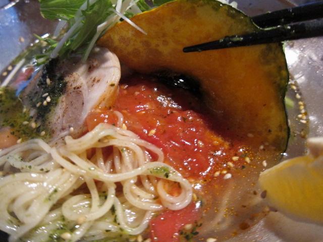 夏野菜とトマトの冷たいらぁ~麺