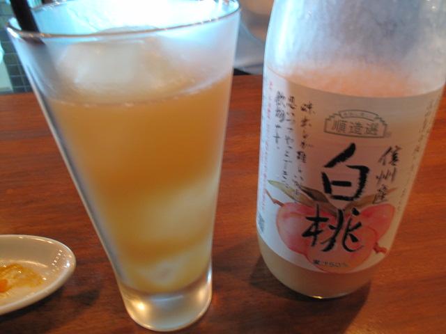 白桃のジュース