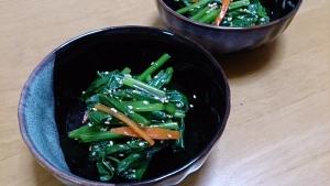 2013-11-07 小松菜 胡麻和え