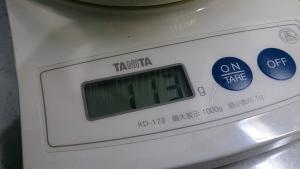 2013-11-08 小松菜 計量