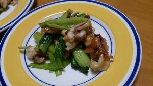 2013-11-22 チンゲン菜 イカと中華炒め