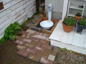 水栓の足場