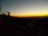 高尾山から見る朝焼け
