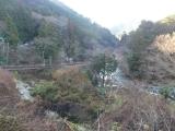 秋川に架かる石舟橋