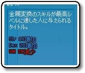 20100826金属変換マスター効果