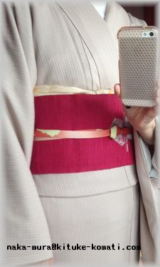 着物桜灰色