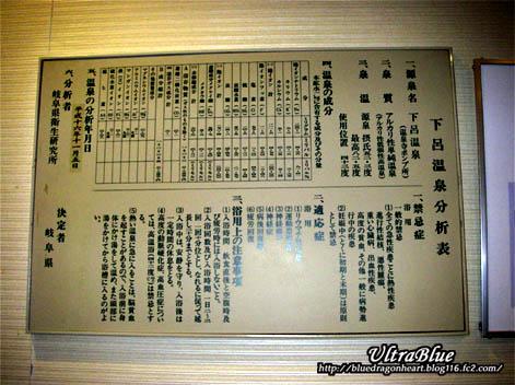 下呂温泉分析表