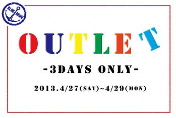 ☆OUTLET☆ 3DAYS ONLY
