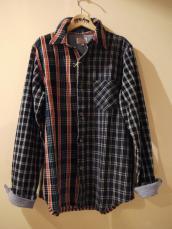 GAIJIN インディゴチェック クレイジーL/Sシャツ