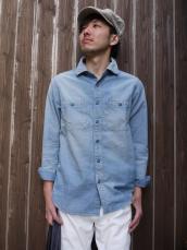 BB COVERBLUEシャンブレーL/Sシャツ