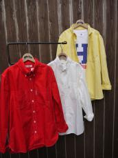 HRM カラーブロード ボタンダウンL/Sシャツ