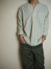 KAPITAL マルチストライプ ホピタルシャツ