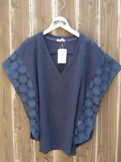 BLUE BLUE JAPAN(OKURA) CUTリネン レースINプル