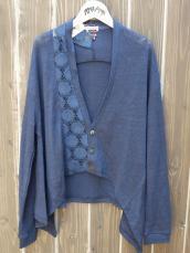 BLUE BLUE JAPAN(OKURA) CUTリネン レーズINカーディガン