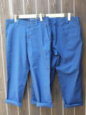 BLUE BLUE JAPAN(OKURA) ブロークンストレッチ7分丈パンツ