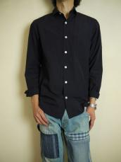 BLUE BLUE JAPAN(OKURA) ライトブロード スモールカラーL/Sシャツ