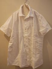 KAPITAL ホワイトパッチワーク カトマンズシャツ(半袖)