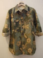 HRM フラワーカモフラージュH/S WOMEN'Sシャツ