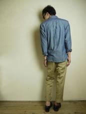BB アンカーブルーシャンブレー ボタンダウンシャツ