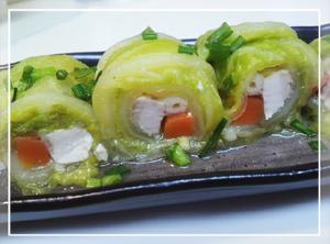 鶏肉の白菜ロール