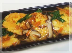 豆腐のふわふわ揚げ-野菜餡