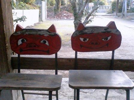 吉備津神社 椅子
