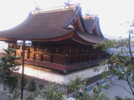 吉備津神社 一童社から 本殿
